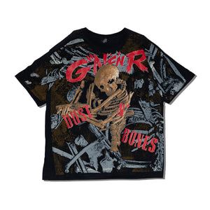 【VINTAGE】GUNS N ROSES DUSTY BONES 1992 DOUBLE PRINT TEE SHIRT - Trendy Maker