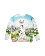 将图片加载到图库查看器,Dalmatien a La Montagne Knitted Sweater - Trendy Maker