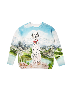 Dalmatien a La Montagne Knitted Sweater - Trendy Maker