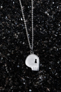 THE REAL BUY X WWW. WILL SHOTT STERLING SILVER SKULL NECKLACE - Trendy Maker