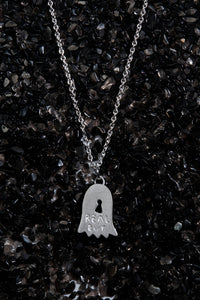 THE REAL BUY X WWW. WILL SHOTT STERLING SILVER GHOST NECKLACE - Trendy Maker