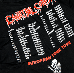 【Vintage】CANNIBAL CORPSE EUROPEAN TOUR 1992 TEE SHIRT - Trendy Maker