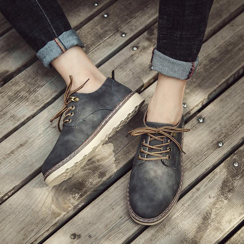 Fashion Casual England Leather Blinding Shoes