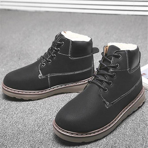 Fashion Youth Casual Thermal Plain Tube Men Shoes