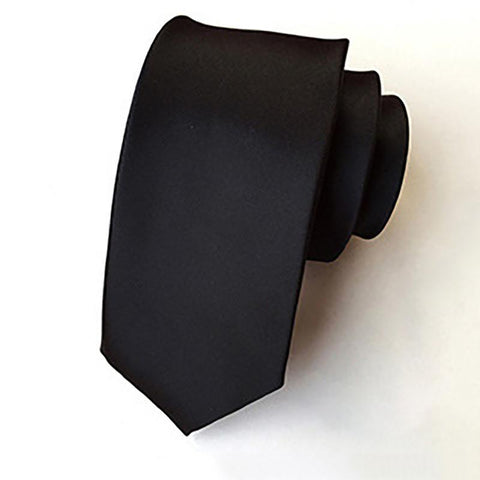Fashion Men's Formalwear Business Solid Color Small Ties