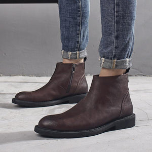 Casual Fashion tooling for shoes in the men's boots