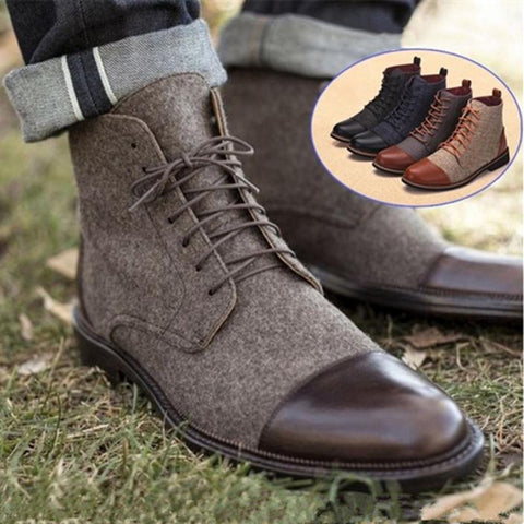 Men's Casual Lace Martin Boots
