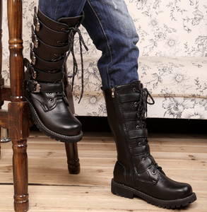 High boots men's boots leather boots Martin boots