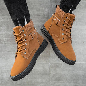 Men's casual high top rivet boots