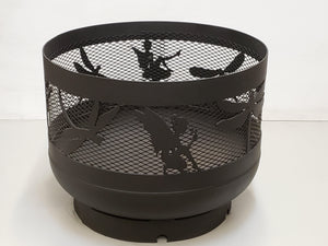 Standard Size Carved Fire Pit - Dragonflies & Fairies - Muskoka Fire Pits