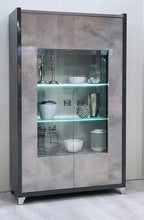 Load image into Gallery viewer, Hilton Italian High Gloss 2 Door Display Cabinet with LED Light