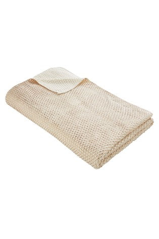 Rose Gold Knit Throw 130x170cm