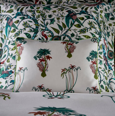 Emma Shipley Jungle Palms Boudoir Pillowcase White