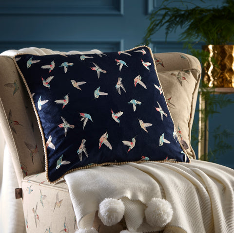 Oasis Hummingbird Cushion