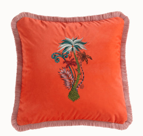 Emma Shipley Jungle Palms Square Velvet Cushion