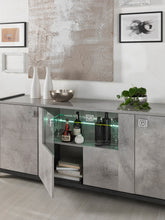 Load image into Gallery viewer, Hilton Italian High Gloss 4 Door Sideboard with LED Light