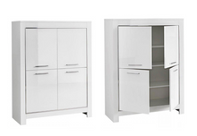 Load image into Gallery viewer, Modena Italian High Gloss 4 Door Cabinet - White