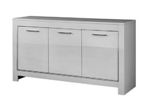 Load image into Gallery viewer, Modena Italian High Gloss 3 Door Sideboard - White