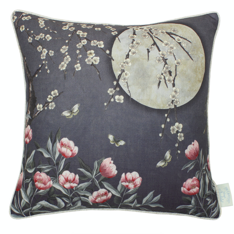 Moonlight Midnight Blue Cushion
