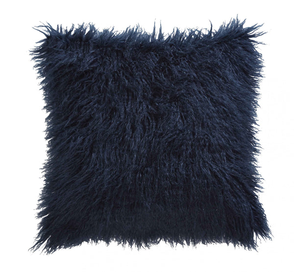 Faux Mongolian Midnight Cushion 43x43cm