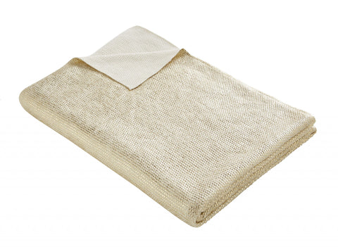 Gold Knit Throw 130x170cm
