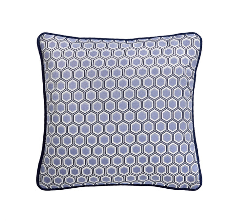 Hexagon Square Midnight Cushion 43x43cm