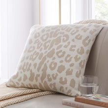 Load image into Gallery viewer, Leopard Knit Cushion 50x50cm PRE ORDER