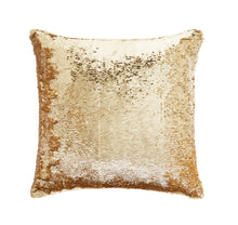 Load image into Gallery viewer, Sequin Gold Cushion 43x43cm