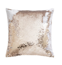 Load image into Gallery viewer, Sequin Rose Gold Cushion 43x43cm