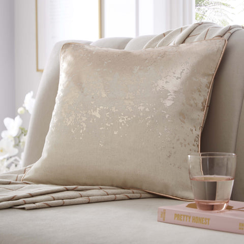 Splatter Foil Print Cushion 43x43cm