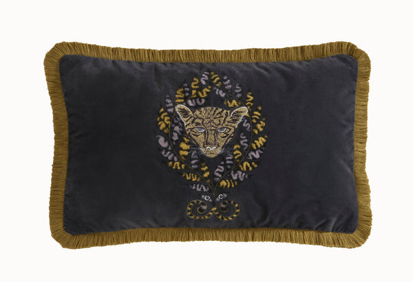 Emma Shipley Amazon Boudoir Velvet Bolster Cushion