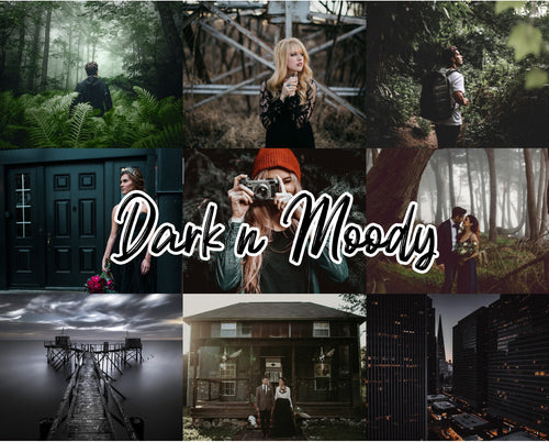 20 Dark N Moody Mobile/Desktop Presets - Magic Preset Filters