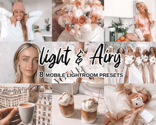 10 Light & Airy Mobile/Desktop Lightroom Presets - Magic Preset Filters