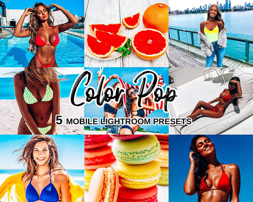 Color Pop Mobile Lightroom Presets - Magic Preset Filters