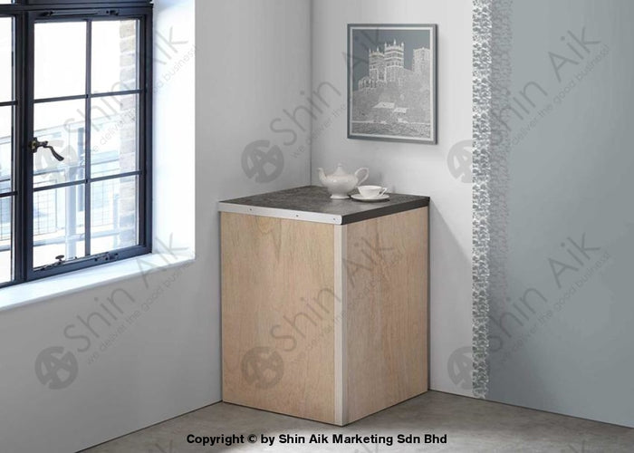 Ash & Grey Two-Tone Modular Kitchen Corner Cabinet (2'ft) - SA3318-240