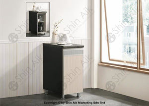 Ash & Grey Two-Tone Modular Kitchen Single Gas Cabinet (1Ft+) - Sa3318-225