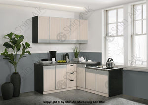 Ash & Grey Two-Tone Modular Low Kitchen Cabinet (4Ft) - Sa3318-220