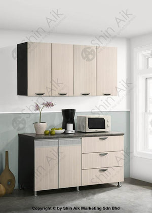 Ash & Wenge Two-Tone Modular Wall-Mounted Kitchen Cabinet (5Ft) - Sa3318-511 Fpd