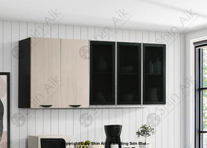 Ash & Wenge Two-Tone Modular Wall-Mounted Kitchen Cabinet (6Ft) - Sa3318-512