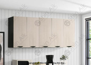 Ash & Wenge Two-Tone Modular Wall-Mounted Kitchen Cabinet (6Ft) - Sa3318-512 Fpd