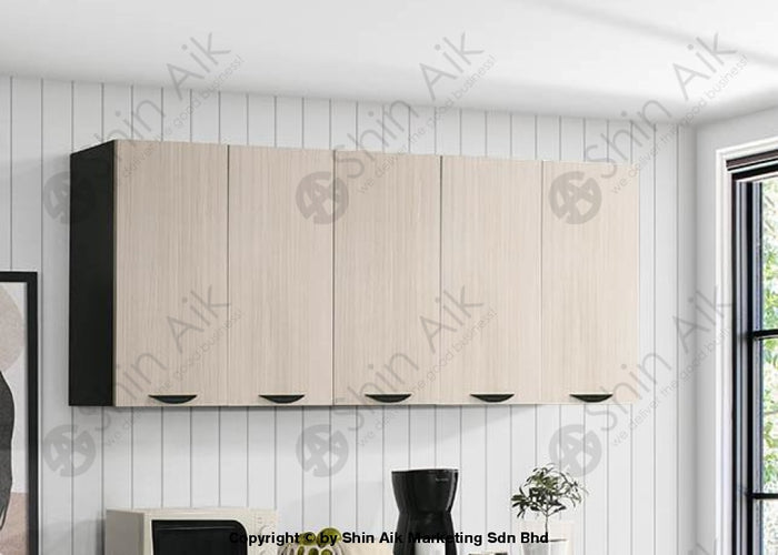 Ash & Wenge Two-Tone Modular Wall-Mounted Kitchen Cabinet (6'ft) - SA3318-512 FPD
