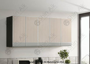 Ash & Wenge Two-Tone Modular Wall-Mounted Kitchen Cabinet (6Ft) - Sa3318-526