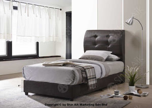 Black Pu Blind Tufted Single Divan Bed (5Hb) - Sadb58559-3Bk Bedroom