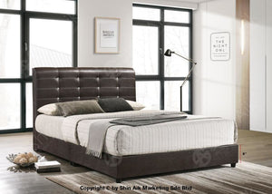Black Pu Diamond Buttons Tufted Double Divan Bed (5.5Hb) - Sadb58565Bk Bedroom