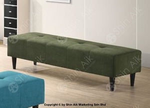 Dark Green Modern Fabric Upholstered Bench Chair (5Ft) - Sabc622002 Entryway