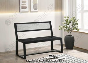 Industrial Style Black Metal Bench (2 Seater) - Sabc5957 Entryway
