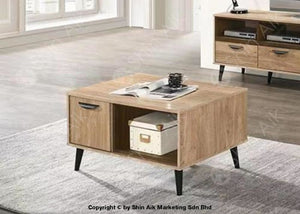 Mid-Century Modern 2 Tone Tv Cabinet (6Ft) & Coffee Table (Natural Oak Walnut) - Sa1660Tv&ct Living