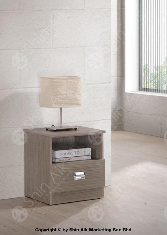 Clay Pine Modern Bedside Table - SAST21