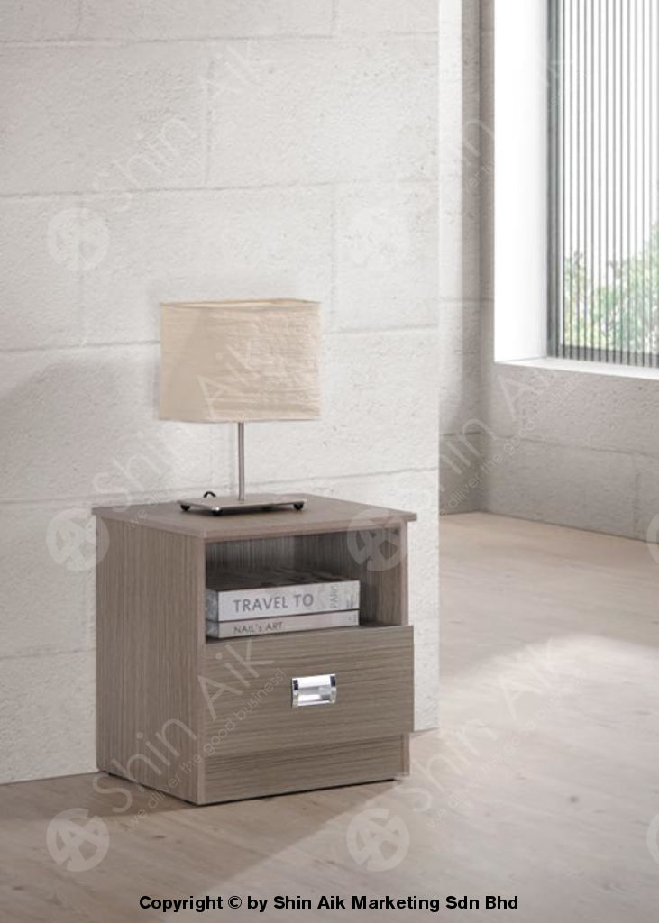 Modern Contemporary Bedside Table Clay Pine Sast21 Shin Aik Marketing M Sdn Bhd