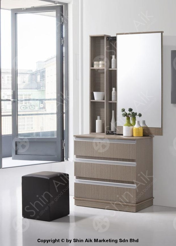 Clay Pine Modern Dressing Table & Mirror - SADT23